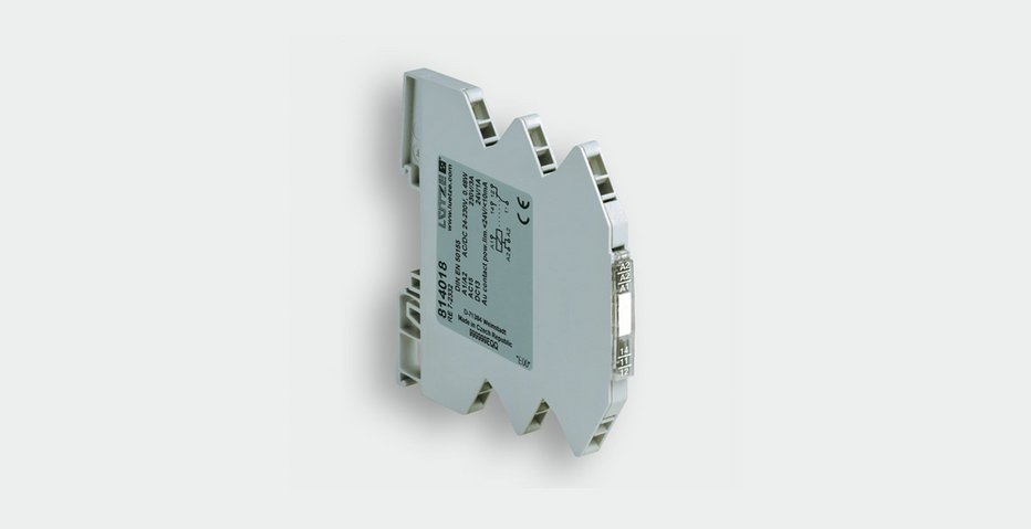 Relay module with wide-range input voltage for railway applications - Lütze Transportation GmbH