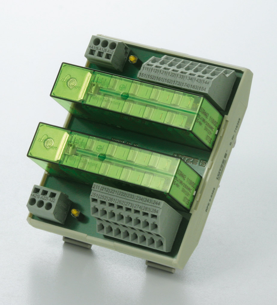 Relay module with positive-action contacts - Lütze Transportation GmbH